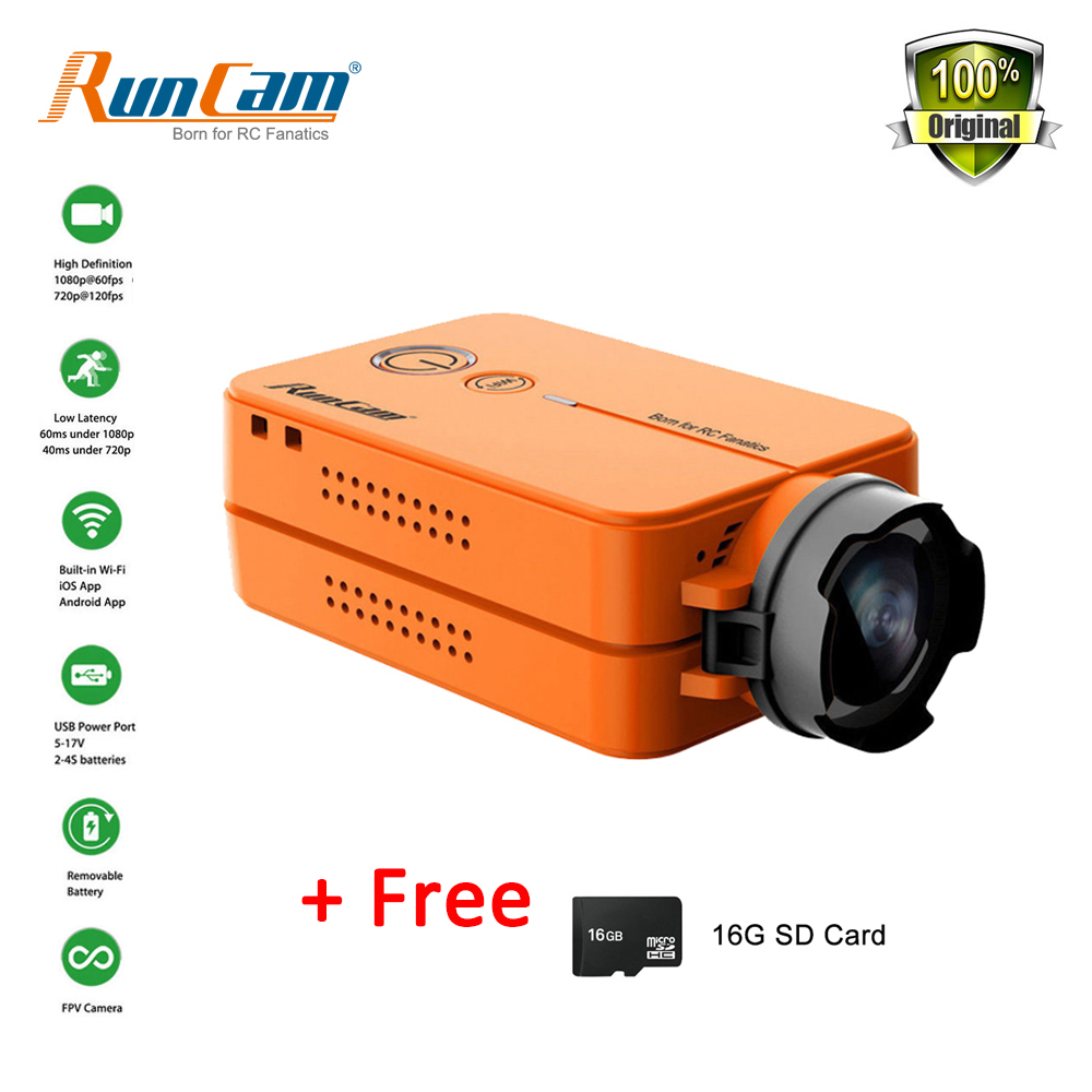 RunCam 2 RunCam2 HD 1080P 120 Degree Wide Angle WiFi FPV Camera with Free 16G SD For RC QAV210 Quadcopter FPV