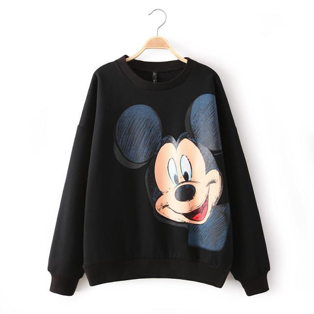 2020 Autumn and Winter New Style Women Fashion Warm Mickey Print - Women's Clothing - Photo 1