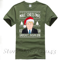 Short Sleeve Make Christmas Great Again Ugly Sweater Donald Trump Shirt For Men