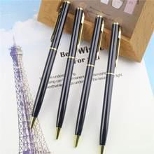 Caneta esferográfica núcleo de metal, caneta esferográfica de luxo feita de metal, material de alta qualidade para dinheiro, 1 peça escolar