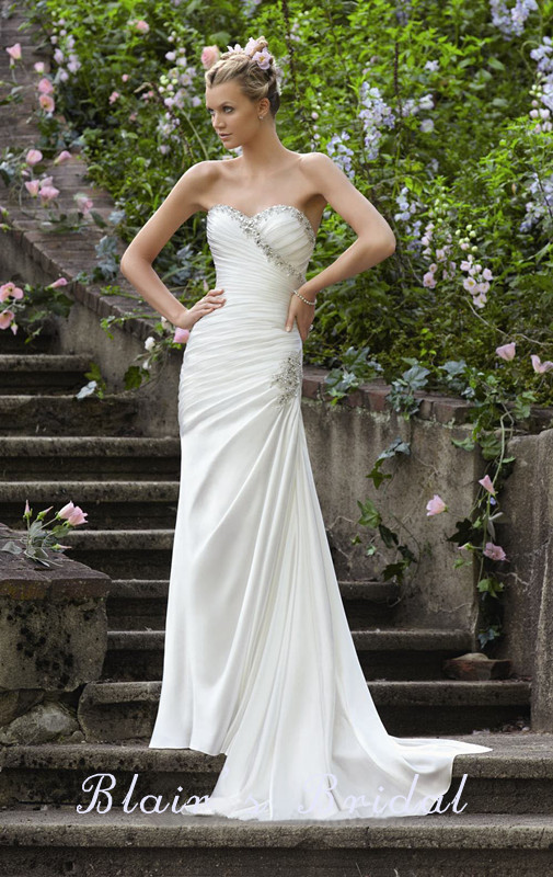 Popular Fitted Wedding Dresses with Bling-Buy Cheap Fitted Wedding ...