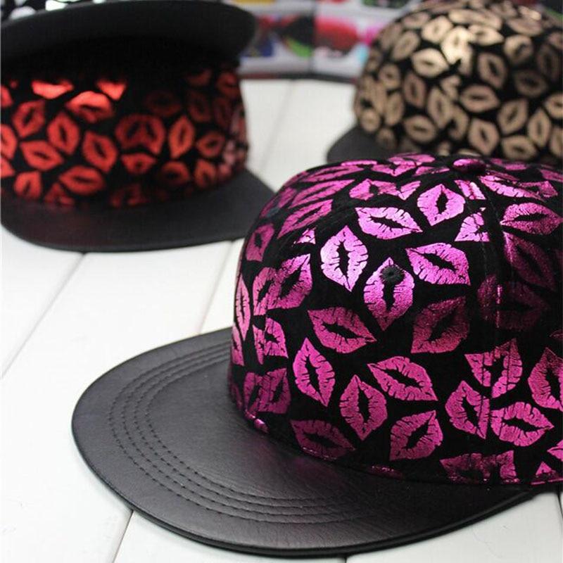 ozyc Hip Hop Lips Baseball Cap Swag Snapback Hats For Women Girls Gorras Planas Casquette Street Dance Sports Caps 2017 New