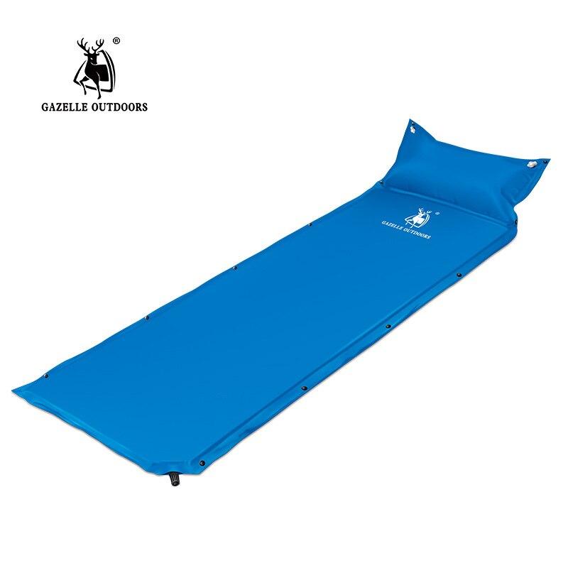 new gazelle outdoor camping mat automatic inflatable tent folding mat splicing picnic beach air mattress