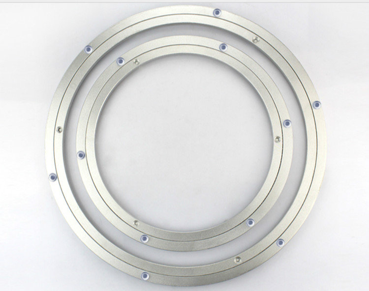 14in 350mm Lazy Susan Aluminum Brackets Round Turntable Bearing premintehdw 120mm 4 7 new design lazy susan aluminum ball bearing turntable bearings