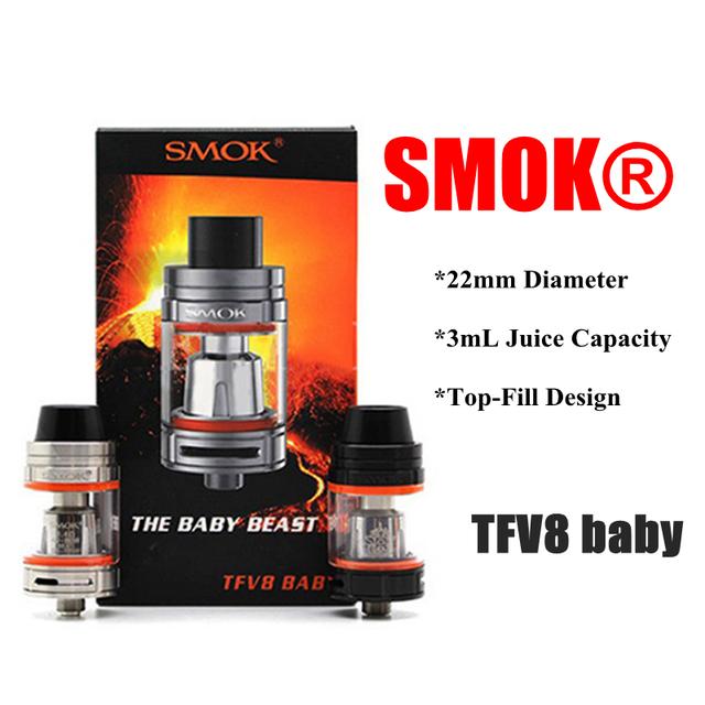 Original Smok TFV8 Bebê Kit atomizador Vaporizador E Cigarro com o Bebê Besta 3 ml tanque TFV8 Baby-Q2 Bobina TFV8 Baby-T8 bobina