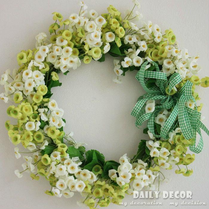Artificial Silk Flower Door Wreath Wedding Garland Decorative Wall Hangings  Door Trim Background Props Car Ornaments