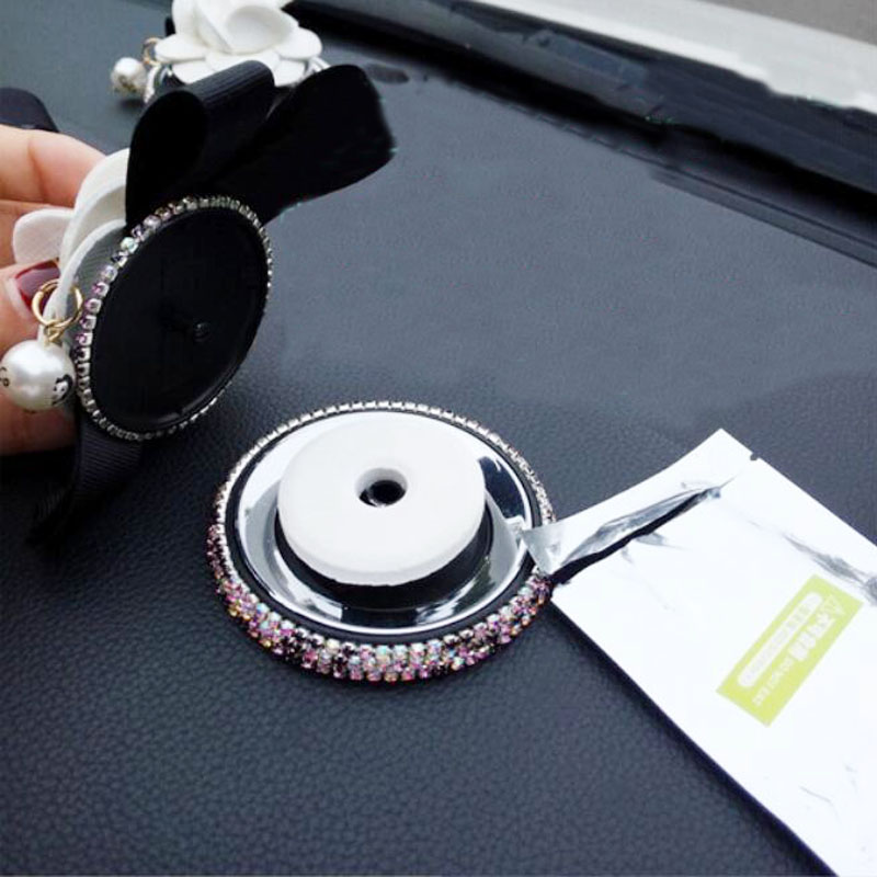 Image 5 - High grade Camellia Diamond Car Accessories Car Anti skid Pad Car Interior Accessories Women's Auto products New style-in Anti-Slip Mat from Automobiles & Motorcycles