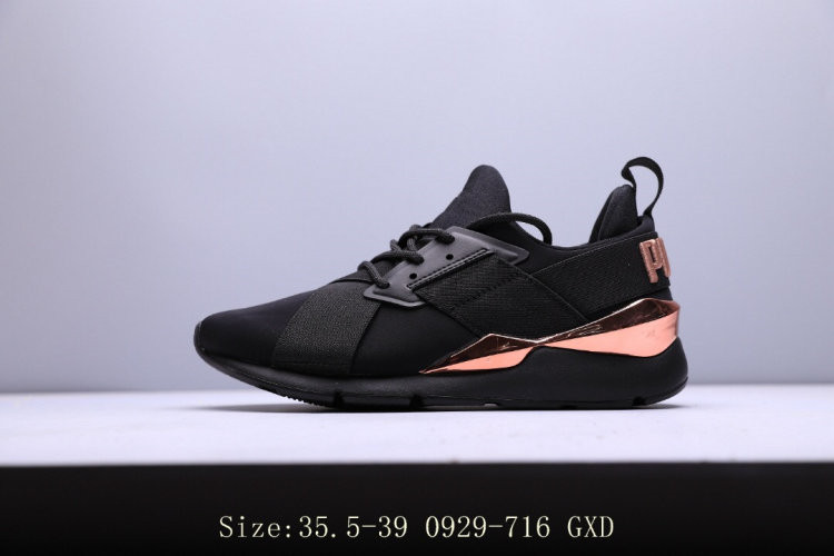 3be7ebdf5a Original Puma Women's Badminton Shoes Muse Satin Ep Womens Sneakers  Pink/Black Low-top Trainers Breathable Walking Shoes