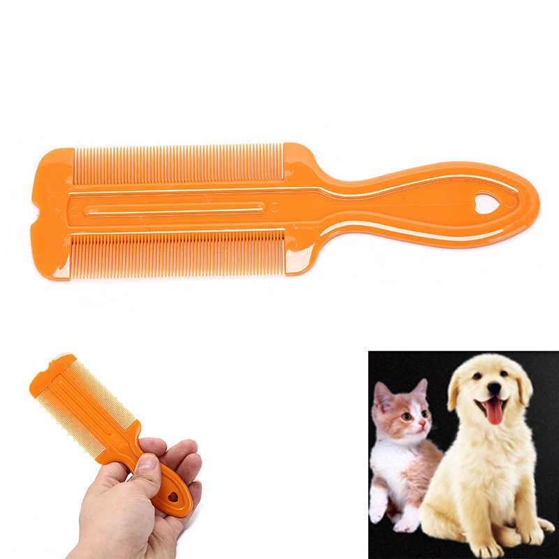 Chien chat Massage propre cheveux animal de compagnie Massage peigne brosse en plastique chiens Lion peigne chien accessoire 15.5*4.5cm