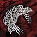 Crystal Austrian Rhinestone Hair comb Wedding Jewelry Bridal Vintage Hair Accessories Women Headpieces Headwear