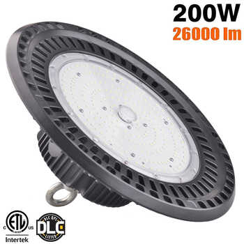 DLC 100W 150W 200W led UFO Industrial Lighting 5000K IP65 3030SMD bouwlamp Garage Light Workshop Light led high bay ufo