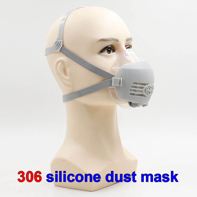 respirator dust mask High quality PM2.5 dust smoke respirator mask silicone + 5PCS activated carbon filter pulp dust mask provide respirator dust mask high quality gray dust mask 10 piece filter cotton painting welding respiration mask