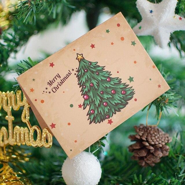 6 teile/satz Schneemann Karte Weihnachten Gruß Cartoon Geschenk ...