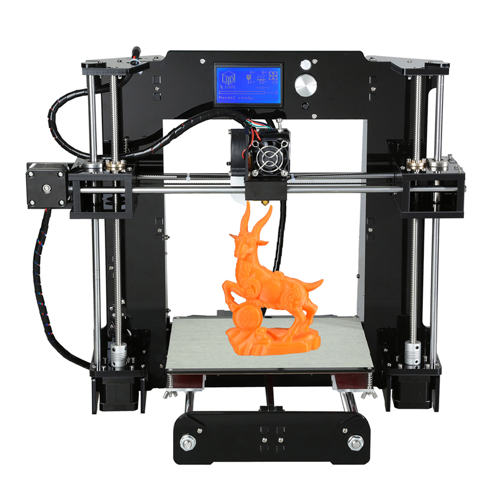 Anet A6 3D Desktop Printer Kit LCD Screen DIY Display 3D Printing Machine With TF Card Off-Line Printing Function PLA Plastic desktop 3d printing digital 3d printing for sale