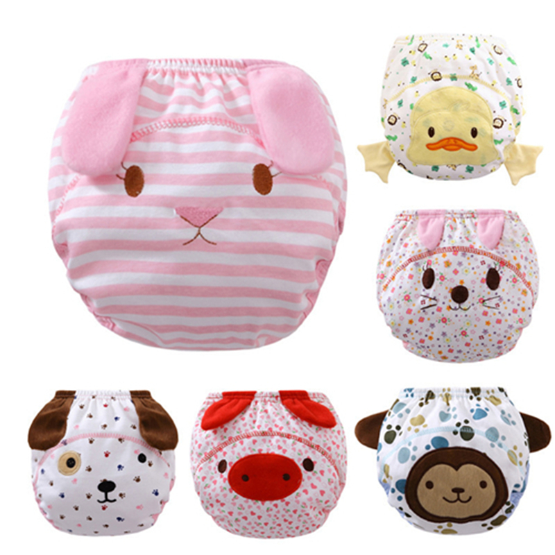 1pcs/lot  Summer new cartoon animal shaped cloth diaper training pants learning pants trousers bread stereo ear  C-SBK-NB-013