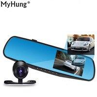 Myhung Car Dvr Camera Auto 4 3 Inch Full HD 1080P Rearview Mirror Digital Video Recorder
