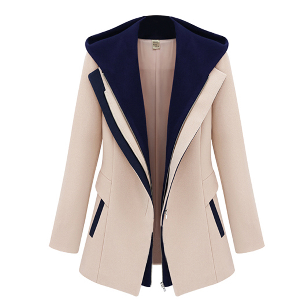 New Hot Women Slim Zipper Long Sleeve Jacket Hooded Outerwear Coat Top