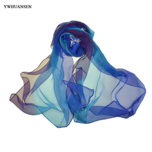 YWHUANSEN Spring Autumn Women Scarves Chiffon Echarpe Femme Imitated Silk Fabric Female Shawl Sunscreen Pashmina Bufandas Wraps