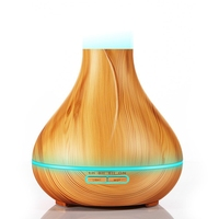 300Ml Aroma Essential Oil Diffuser Ultrassonic Air Humidifier Remote Control With Wood Grain Aromatherapy Diffuser Led Lamp Fo