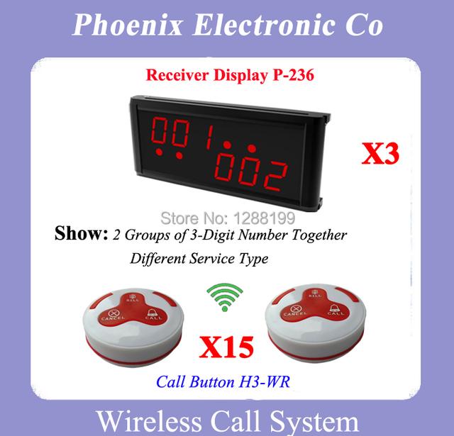 Sistema de Paginación Restaurante Wireless Con 15 Campanas H3-WG 3 Pantalla Inalámbrica P-236 Calidad Garantizada