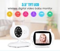2019 3.5 ''デジタルワイヤレスベビーモニター Lcd ディスプレイビデオセキュリティカメラ温度 2 ウェイトークナイトビジョン赤ちゃんの乳母カメラ