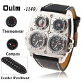 2016 TOP Brand Luxury Design Oulm Watches Men Full Steel Quartz-watch Antique Male Casual Military Wristwatch Relojes Hombre