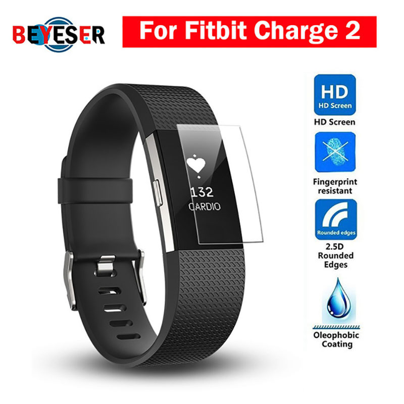 BEYESER HD Protective Film For Fitbit Charge 2 Charge2 Band Anti-Scratch TPU Screen Protectors Bracelet Screen Clear Ultra Thin