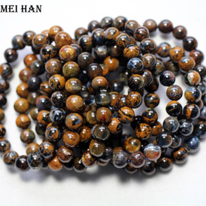 Image 3 - Wholesale (approx 21beads/set/19g) 8.5 9mm A++ natural Namibia Pietersite smooth round  beads stone for women men bracelet