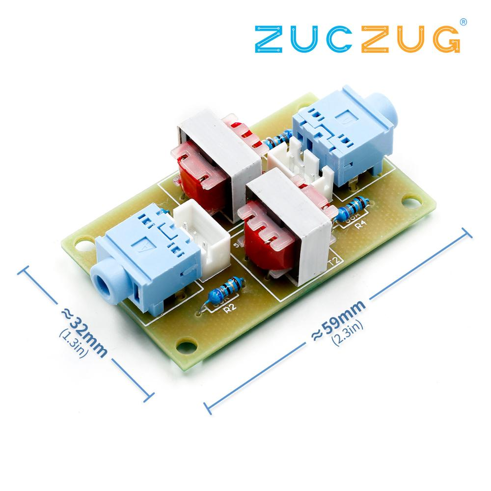 XH-M372 Stereo /Audio Isolator Vehicle Common Ground Suppression Interference Noise Isolation Module Transformer Coupler
