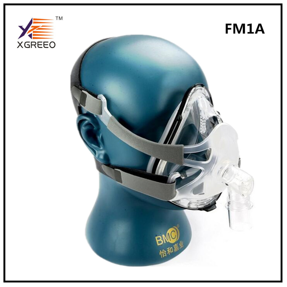 BMC XGREEO FM1A Full Face Mask With Headgear For CPAP Machine Air Flow Breath Size S/M/L Snoring Therapy Interface orthodontic reverse pull fact mask dental headgear orthodontic face mask adjustable face mask