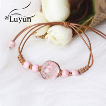 Luyun Female Personality Jewelry Glass Bracelet Four-leaf Clover Lucky Wholesale Free Shipping