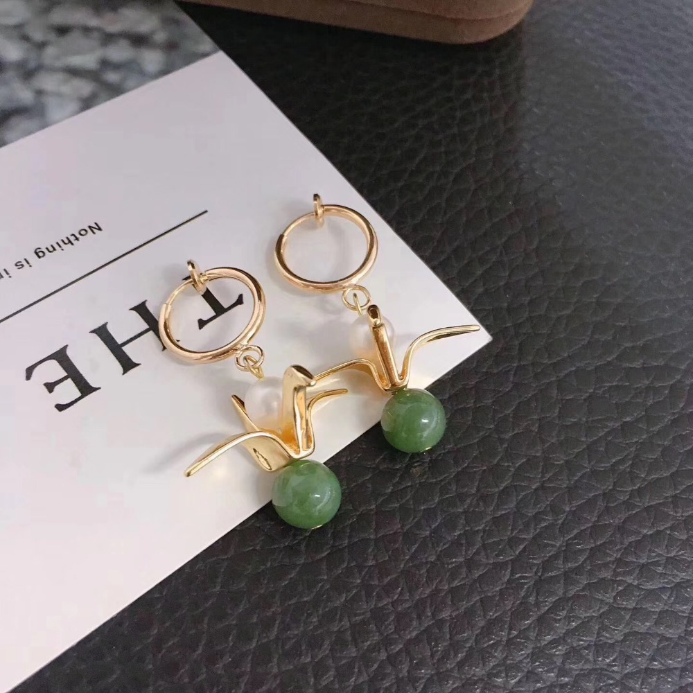 New Personality Hand Woven Design Gold Filled High Quality Natural Freshwater Pearl Earrings For Women Drop