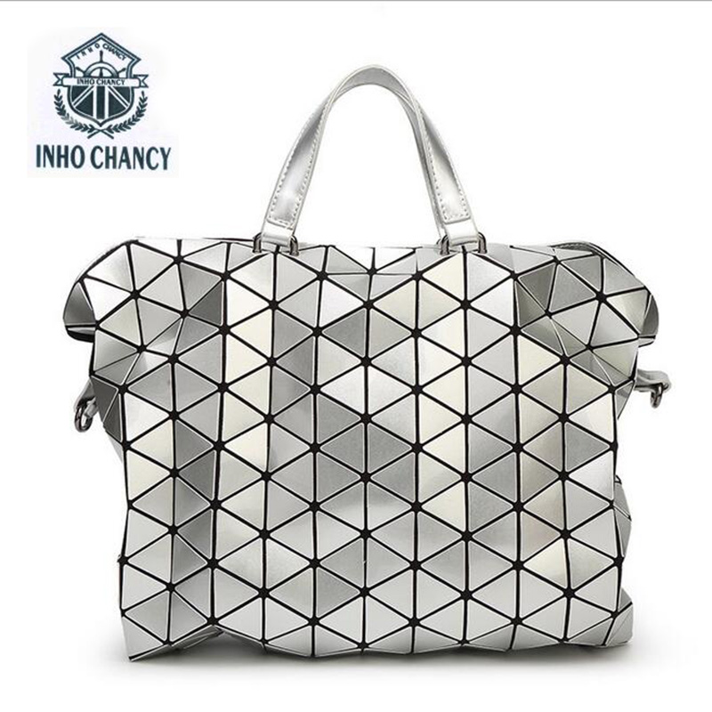 bao bao package geometric Lingge Folding Handbag fashion handbags Bao Bag Fashion Casual Tote Fashion Women Tote Japan Quality dvodvo women handbag baobao bag female folded geometric plaid bag bao bao fashion casual tote women handbag mochila shoulder bag