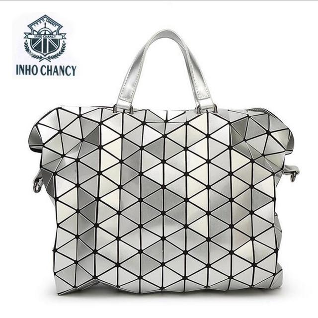 bao bao package geometric Lingge Folding Handbag fashion handbags Bao Bag  Fashion Casual Tote Fashion Women Tote Japan Quality-in Top-Handle Bags  from ... 92485e94668d9