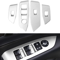 4pcs ABS Matte Interior Inner Door Window Lift Button Switch Panel Cover Trim For Mazda CX5