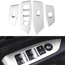 4 шт. ABS Матовый Интерьер внутренняя двери, окна лифт переключатель Панель чехол накладка для Mazda CX5 CX 5 CX-5 2017 2018