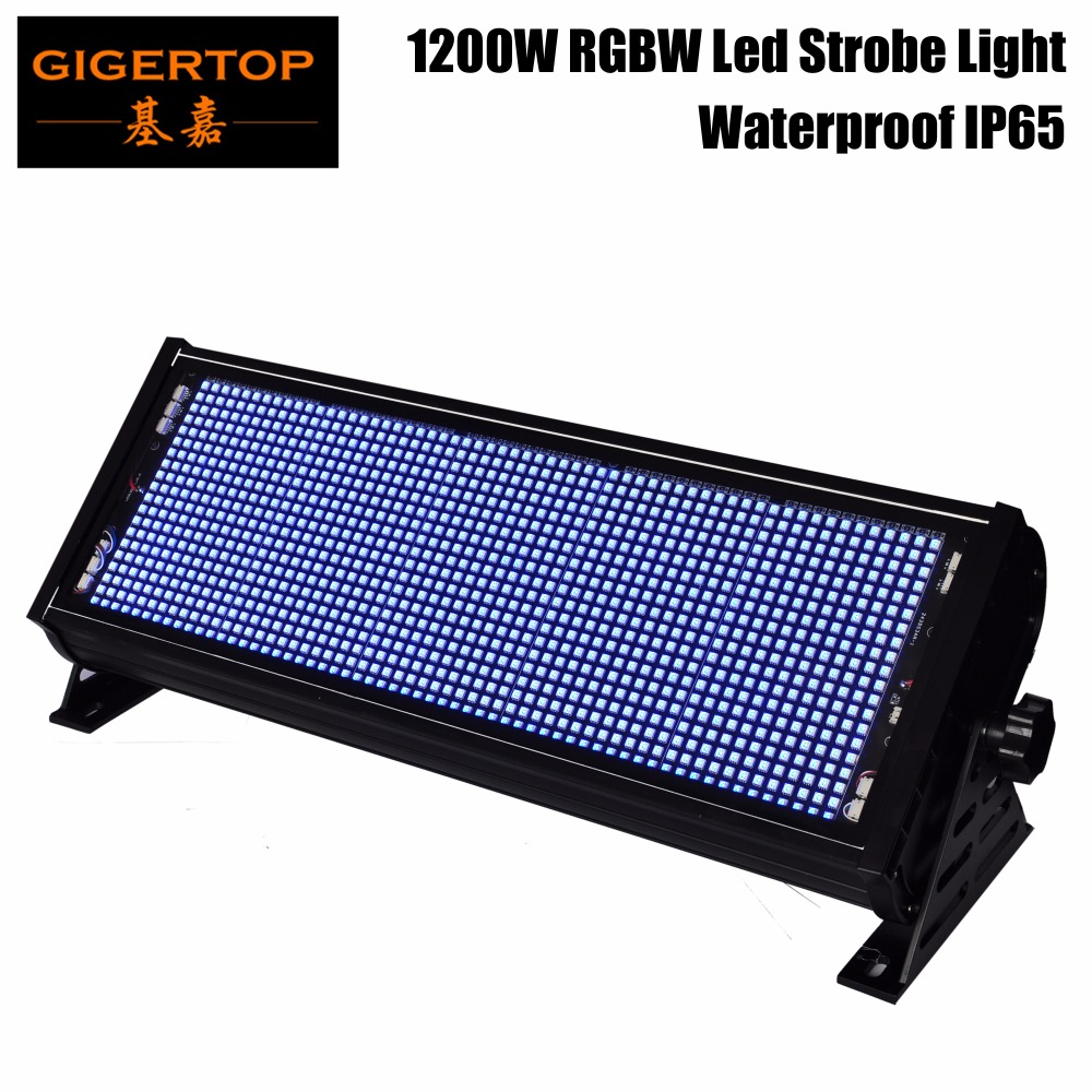 TIPTOP TP-S1200RGBW Strobe RGBW À Prova D' Água Flash Light Stage Party Iluminação Som Ativado para Club Disco Party DJ Bar IP65