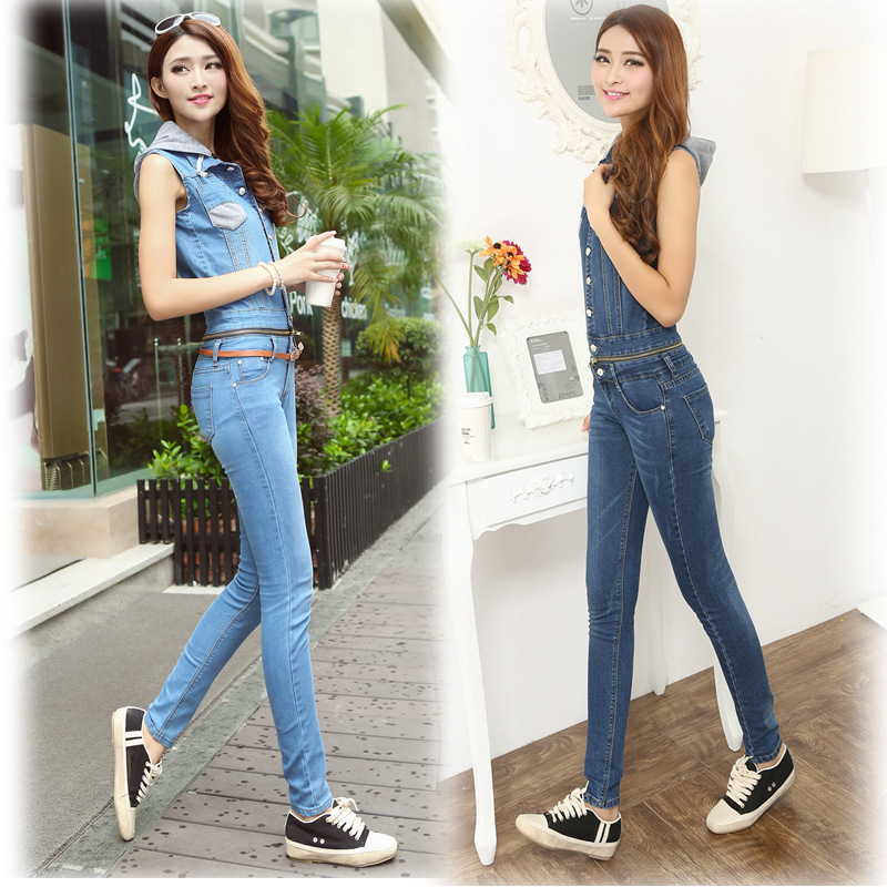 2017 fashion new detachable mid waist full length slim fit casual hooded overalls denim jeans for women mimco hairleather tote with detachable mid pouch