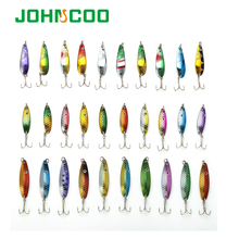 Hot 30pcs/lot Fishing Lure Kit/Set Mixed Color/Size/Weight//Diving Depth 3-6G Metal Spoon Lure Fishing Tackle Isca Artificial(China)