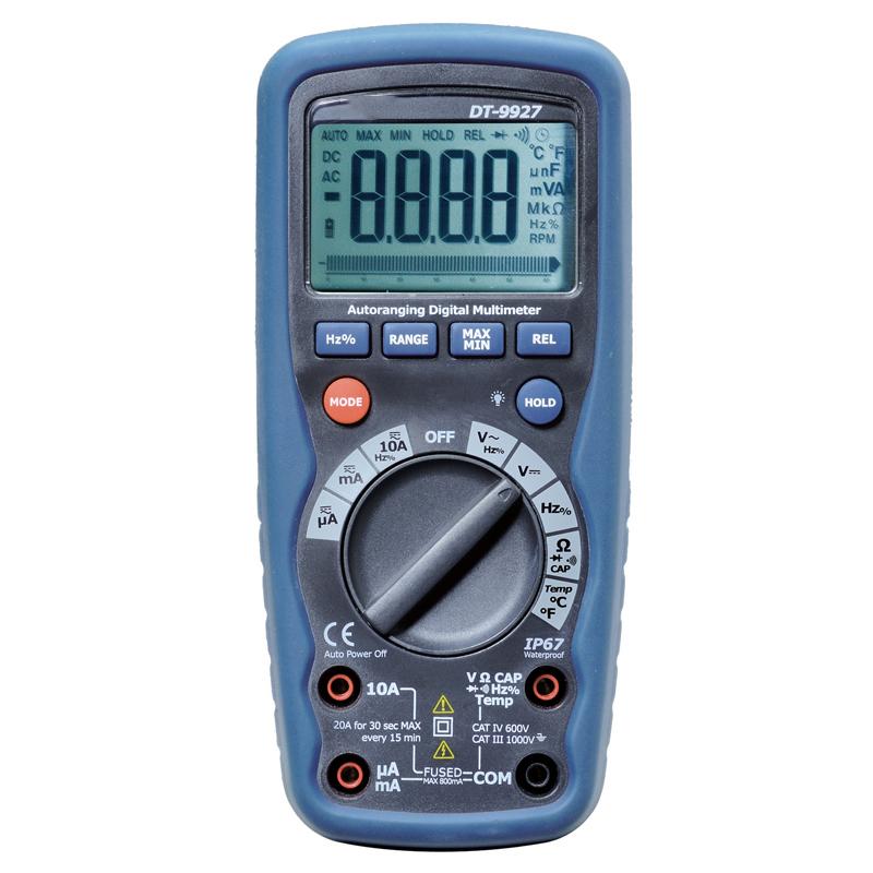 digital multimeter auto range with Current voltage resistance test multimeter digital professional DT-9927 multimeter test leads digital auto range