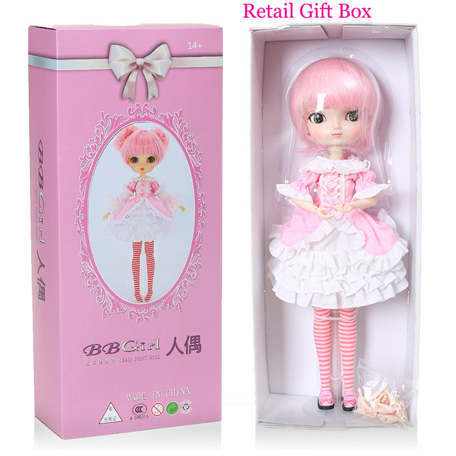 Free Shipping 35cm Jimusuhutu SD BJD Fashion Girl Dolls 1/6 Ball Joint Resin Kit Pretty Gril Doll Classic Gift Toy for Girl 5