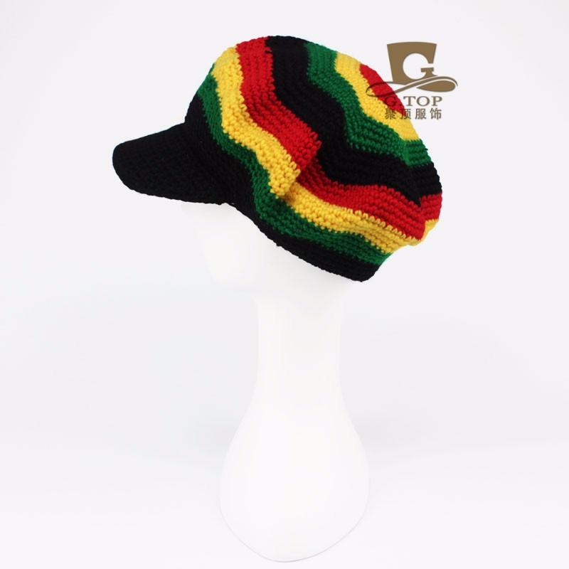 Rasta sombrero gorros de punto sombreros boina crochet slouchy Tam ...
