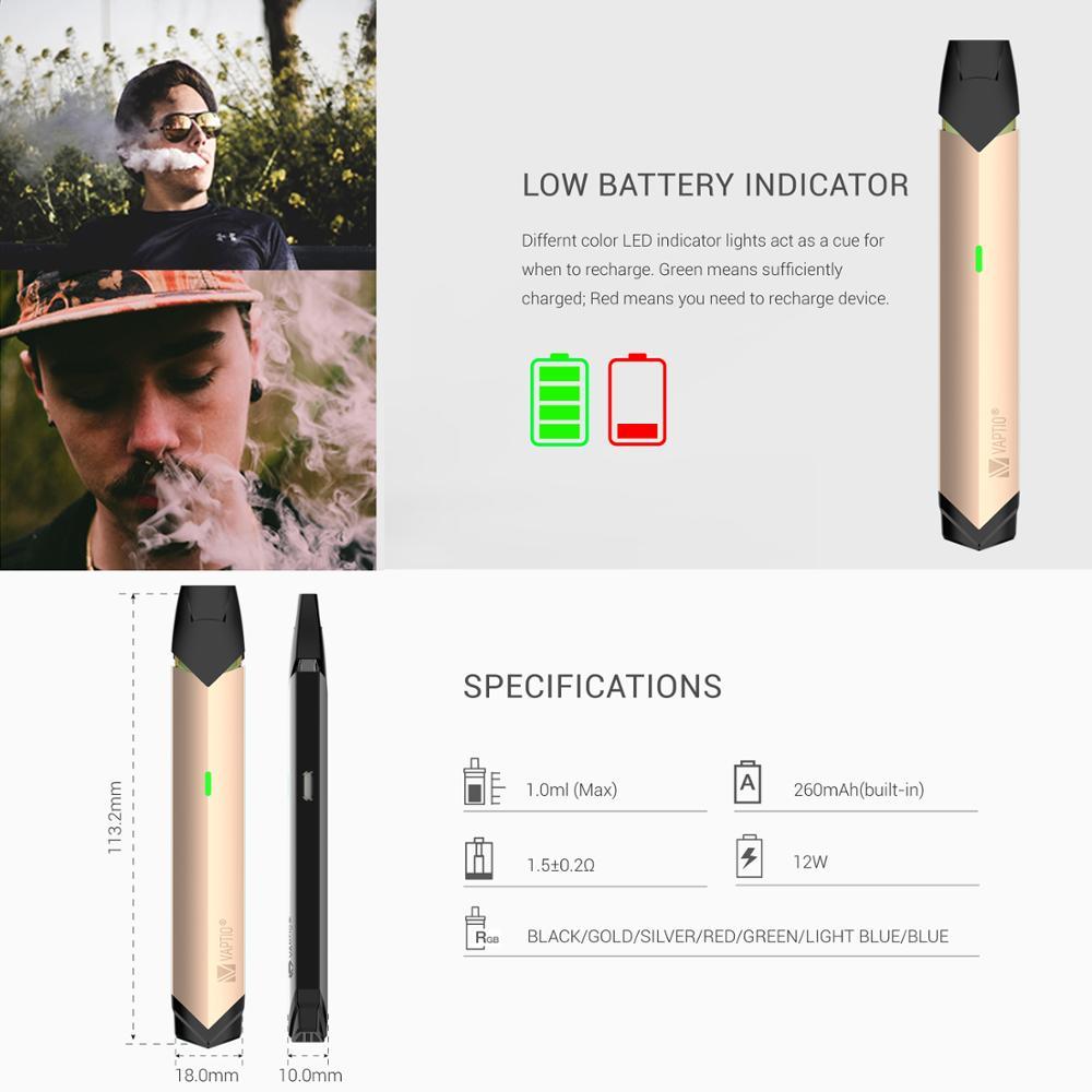 Vape Vaptio Solo flat mini kit 12w 1 0ml Vape Pen Electronic Cigarette E  Cig Starter Kit Vaporizer VS infinix pod