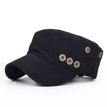 BING YUAN HAO XUAN Men Flat Caps and Hats with Buttons Outdoor Travelling Army Women Summer Baseball