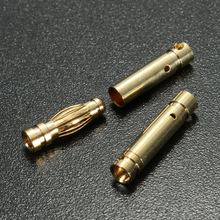 10 Pair 3.5mm Gold Plated Copper Banana Plug Connector Male Female Socket Adapter For RC Car Truck Drone Battery