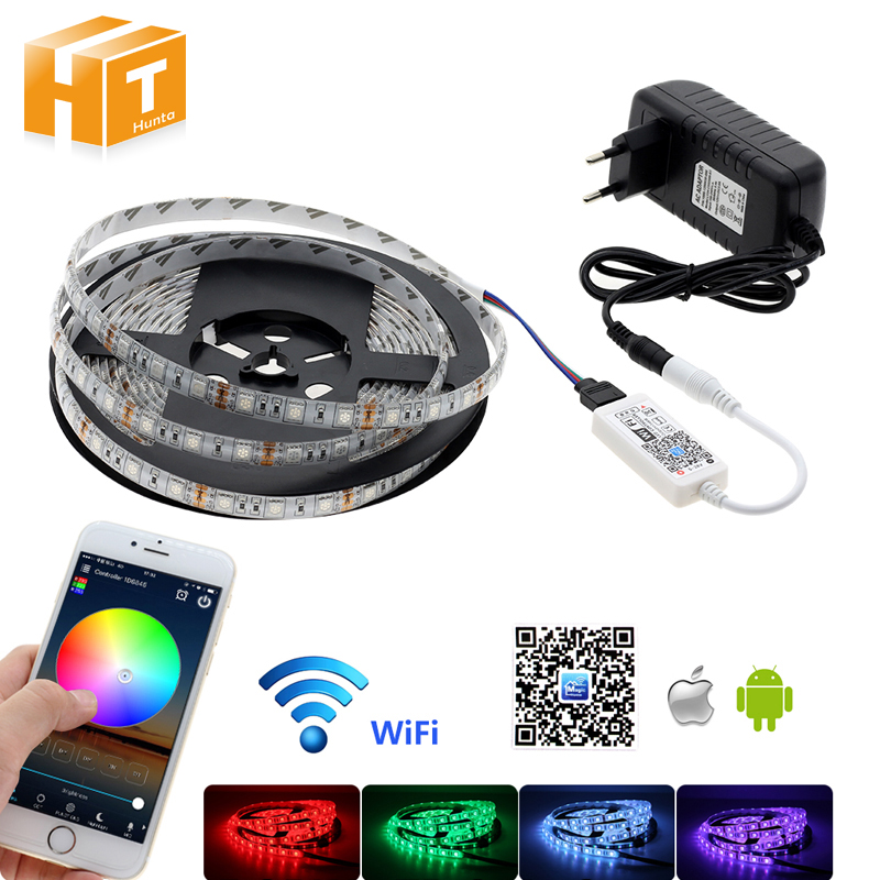 WiFi Control RGB LED Strip 5050 Set Home Decoration Neon