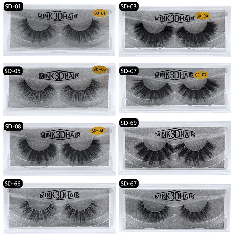 Image 2 - 50 Pairs 3d Mink Lashes Wholesale Handmade natural False Eyelashes 3D Mink Eyelashes Dramatic Lashes 17styles makeup Eye Lashes-in False Eyelashes from Beauty & Health