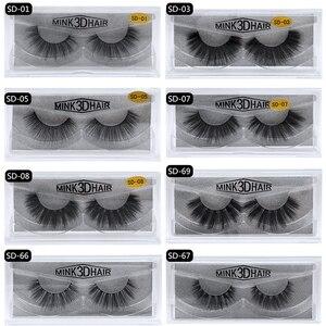 Image 2 - 50 Pairs 3d Mink Lashes Wholesale Handmade natural False Eyelashes 3D Mink Eyelashes Dramatic Lashes 17styles makeup Eye Lashes