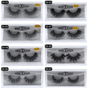 Image 2 - 50 Pairs 3d Mink Wimpers Groothandel Handgemaakte natuurlijke Valse Wimpers 3D Mink Wimpers Dramatische Wimpers 17styles make Wimpers