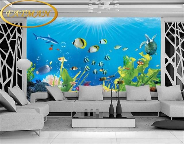 Benutzerdefinierte fototapete wohnzimmer kinderzimmer aquarium ...